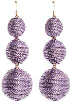Kenneth Jay Lane Graduating threaded sphere drop earrings