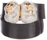 Judith Leiber Embellished Snakeskin Belt
