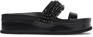3.1 Phillip Lim Embellished Suede And Leather Platform Sandals