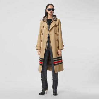Burberry Stripe Detail Cotton Gabardine Trench Coat