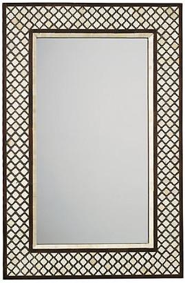 Jamie Young Mughal Bone Wall Mirror - Camel/Chocolate
