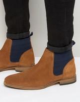 Asos Chelsea Boots In Tan Suede