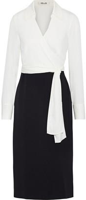 Diane von Furstenberg Mila Stretch-silk Crepe And Cady Wrap Dress