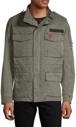 Zadig & Voltaire Bernard Faux Fur-Lined Military Jacket