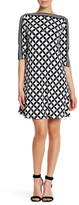 Sandra Darren Jersey A-Line Dress (Petite)