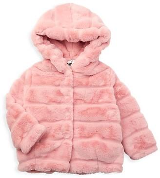 Apparis Little Girl's & Girl's Goldie Kids Faux Fur Coat