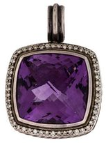 David Yurman Amethyst & Diamond Enhancer Pendant