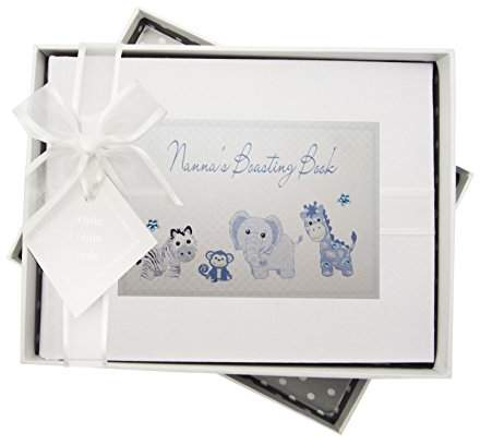 Blue Gingham White Cotton Cards Nannas Boasting Book Photo Album Toys Range