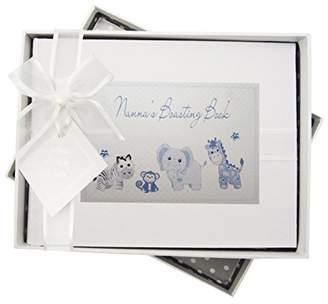 White Cotton Cards Nanna's Boasting Book Photo Album Toys Range (Blue Gingham)