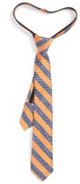 Nordstrom Boy's Stripe Silk & Cotton Zipper Tie