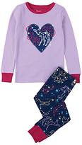 Hatley Children's Starry Eyed Applique Pyjama Set, Navy