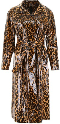 Miu Miu Coated Animal Print Coat