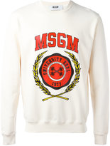 MSGM college logo sweatshirt - men - Cotton - XS