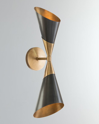 John-Richard Collection John Richard Collection Mid-Century Two-Light Sconce