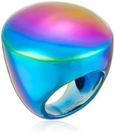 "Trina Turk Psychadelica"" Dome Coated Hematite Ring, Size 7"