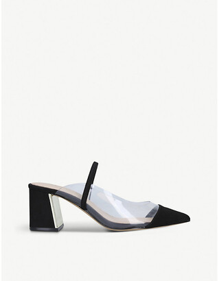 Aldo Chaleclya pointed-toe faux-leather block-heeled sandals