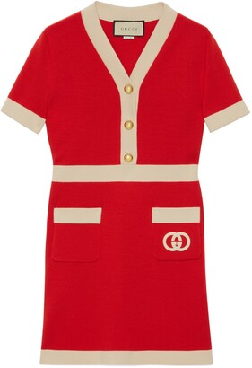 Gucci Wool dress with Interlocking G