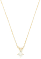 0.33 Total Ct. Princess Cut Diamond & Gold Pendant Necklace