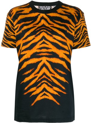 Versace cotton tiger print T-shirt