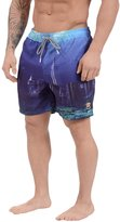 "Tokyo Laundry Men's Waterworld"" Swim Shorts (, Blue Sunset)"