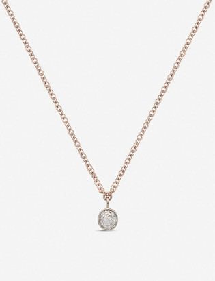 Monica Vinader Fiji Tiny 18ct rose gold-plated vermeil and diamond necklace