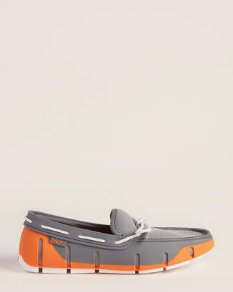 Swims Grey & Orange Stride Lace Loafers