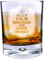 Very Personalised Keep Calm Drink Whisky Bubble Glass