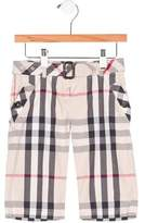 Burberry Girls' Exploded Check Straight-Leg Pants