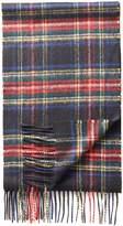 Black Plaid Cashmere Scarf by Charles Tyrwhitt