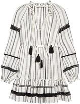 Veronica Beard Danica Long Sleeve Cover-Up Minidress