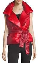Norma Kamali Sleeveless Belted Sleeping Bag Vest