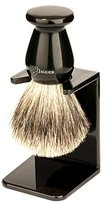 Jagger Edwin Best Badger Shaving Brush with Drip Stand, Imitation Ebony, Medium