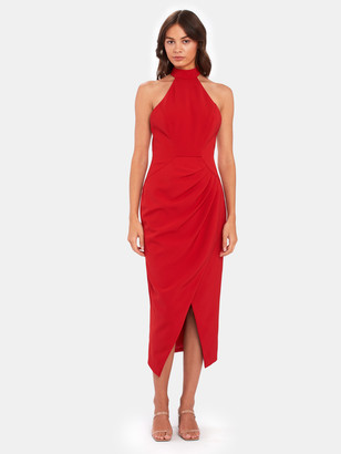 C/Meo Caliber Halter Midi Dress