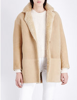 Sandro Glam shearling lined coat