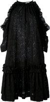 MSGM cut-out shoulders shift dress - women - Cotton/Polyester - 40