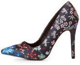 Charlotte Russe Qupid Brocade Pointed Toe Pumps