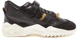Maison Margiela Retro Fit Chunky Leather Trainers - Mens - Black White