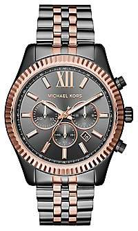 Michael Kors Women's Lexington Two-Tone Stainless Steel Chronograph Bracelet Watch
