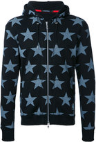 GUILD PRIME stars print hooded jacket - men - Cotton - 1