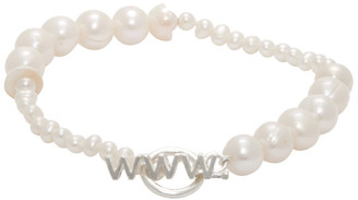 WWW.WILLSHOTT Silver Alternative Pearl Bracelet