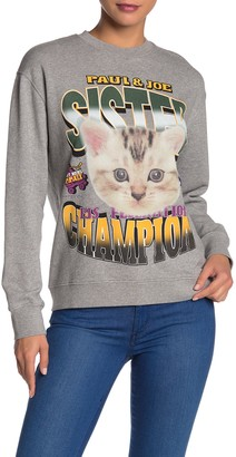 Paul & Joe Sister Superbowl Cat Printed Sweatshirt