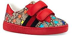 Gucci Baby's Star Print Velcro Strap Sneakers