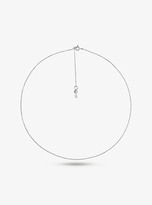 Michael Kors Precious Metal-Plated Sterling Silver Starter Necklace - Silver