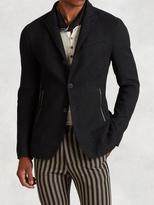 John Varvatos Linen Cotton Basket Weave Jacket