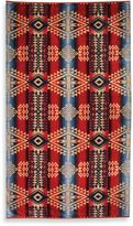 Pendleton Canyon Oversized Jacquard Beach Towel in Mauve