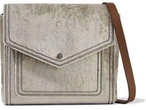 Brunello Cucinelli Bead-embellished Velvet Shoulder Bag