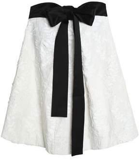 Zimmermann Strapless Bow-Detailed Embroidered Linen-Gauze Mini Dress