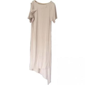 Anne Valerie Hash Ecru Silk Dresses