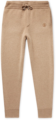 Burberry Tapered Cashmere-Blend Sweatpants - Men - Brown
