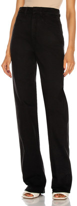 Lemaire Denim High Waisted Pant in Black   FWRD